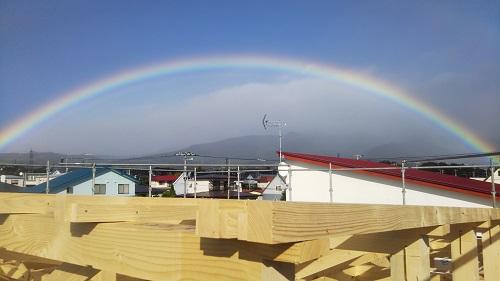 <登別室蘭・田中> 雨上がりに見れたキレイな虹